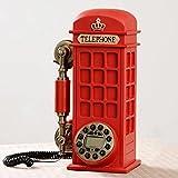 Altmodische Retro-Telefon-Set zu Hause persönliche Kabel-Telefon Europäische antike Telefonzelle