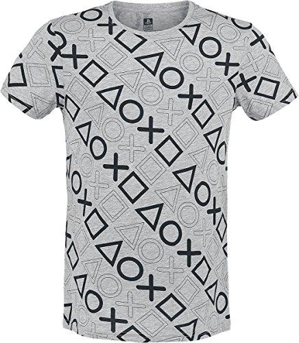 Preisvergleich Produktbild Bioworld Playstation - T-Shirt - komplett Bedruckt -L-