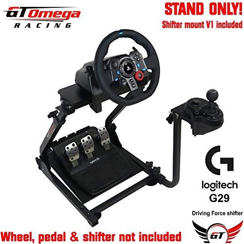 GT Omega Support de volant pour Logitech G29 G920 Thrustmaster T500 T300  T300 TX & TH8A, monture de levier de vitesses V1 - PS4 Xbox Fanatec  Clubsport