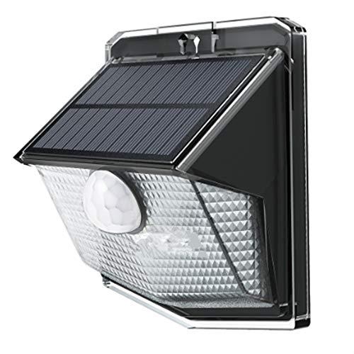LITOM Außen Solarleuchten, LED Solarleuchten, 3 Intelligente Modi 3-in-1 Wetterfeste Licht Bewegungs Sensor Lampe für Garten, im Freien, Hof, Terrasse, Garten, Auffahrt -