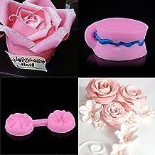 Molde Silicona reposteria 3D pétalos Rosa Rosa Molde Silicona Fondant Mini Moldes de Silicona de Flores