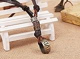 AIUIN Metalllegierung Legierung Echtleder Anhänger Halskette Kordelkette Silber Golden Zwei Feuerzeug Einstellbar Verstellbaren 65-70CM Zoll Kette Herren,Damen Test