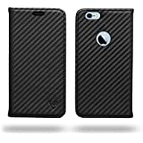 Ceego Ultra Compact Magnetic Lock Flip Cover For IPhone (Apple IPhone 6 / 6s, Super Black)