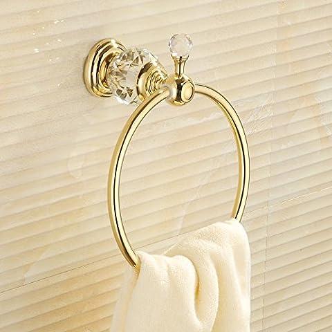 Oro anello di tovagliolo di rame tovagliolo di bagno anello di giada anello di tovagliolo bagno rotonda europea antico cremagliera di tovagliolo ( colore : B. ) - Oro Giada Anello