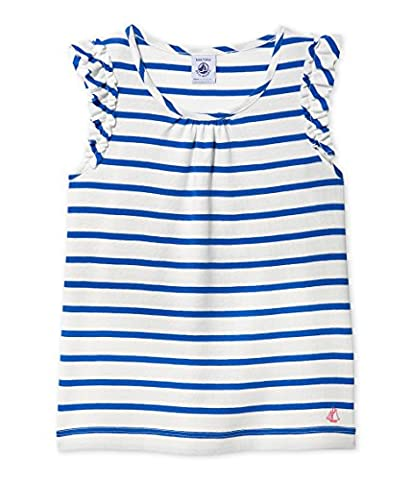 Petit Bateau Girl's Feredith Tank Top, Multicoloured (Lait/Delft), 12 Years