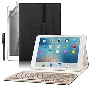 Boriyuan Flip Folio Cases for Ipad Pro 9.7 (Black)
