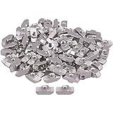 100piezas de plata T deslizante tuerca bloque con m4thread para 40Serie Europea estándar aluminio ranura