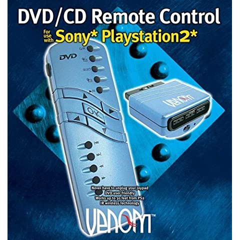Venom Black DVD and CD Remote Control (PS2) by Venom - Ps2 Dvd Remote