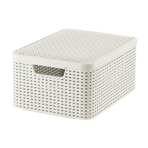 CURVER 03618-885-00 Aufbewahrungsbox Style mit Deckel M, 18 L, Creme