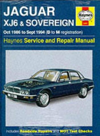Jaguar XJ6 1986-94 Service and Repair Manual (Haynes Service and Repair Manuals) por Jeff Kibler