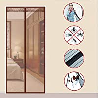XMZFQ Magnetic Screen Door Full Frame Magic Adhesive-Easy Open and Close Design-Fresh Air in-Keep Mosquitoes Out-Pet Friendly,A,100 * 210cm(W*H)
