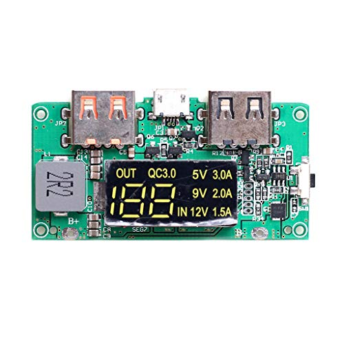 TOOGOO Boost 5V Hoch Pass Qc3.0 Schnell Lade Presse Bord mit Digital Power Anzeige Bewegliche Strom Leiter Platte