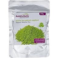 Ambivitalis - Matcha Té verde orgánico equilibrado en polvo, 100 gr. en una bolsa con cierre hermético