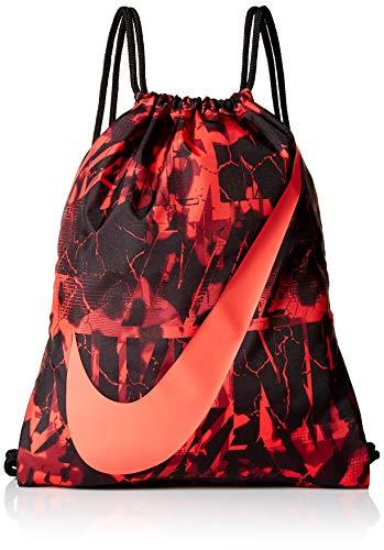 Nike BA5262 2018 Bolsa de Cuerdas para el Gimnasio 45 cm, Crimson Brillante/Negro