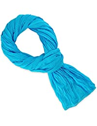Chèche coton bleu turquoise uni