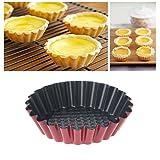 Lanker Stampi Per Cupcake E Muffin In Acciaio Al Carbonio, Stampo Per Crostata Di Uova A Forma Di Tazza Riutilizzabile E Antiaderente (8 Pezzi) KT40