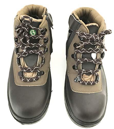 compra venta gran descuento para personalizadas TrekSta Chaussures de sécurité pour Homme en Cuir Noir avec Embout en métal  et Semelle intermédiaire en métal - Noir - Noir, 42 EU