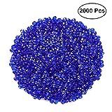 Healifty 2000pcs Deko Diamanten Kristalle Hochzeit Dekosteine Streudeko Party Tischdekoration Konfetti 4.5mm (Dunkelblau)