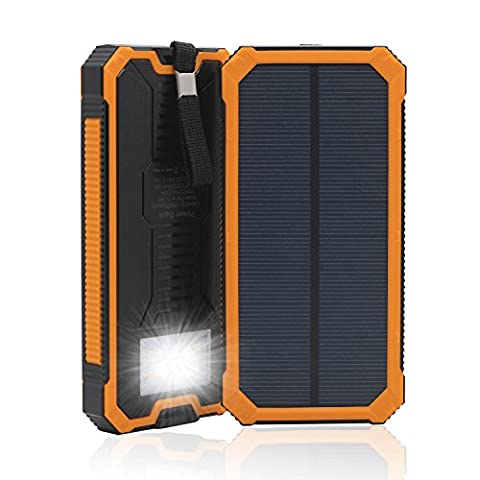 15000 mAh double USB Chargeur solaire portable de secours Power
