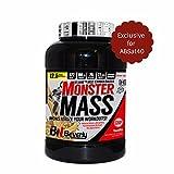 Beverly Nutrition Exclusive Für ABSat40 Monster Mass Weight Gain Pulver - Vanille Geschmack - Mit ELIANE MD2 Carboloader - Vollständige Glucogen Reload mit Whey Protein Isolate - Muskelmasse und Erholung - Gewichtszunahme Bodybuilding und Sportnahrung - generieren schlanke Muskelgewebe und fettfrei - 2,5 kg