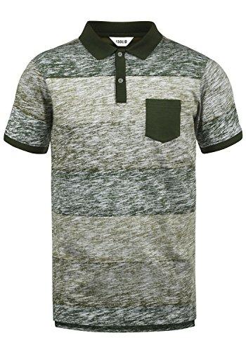 !Solid Teino Herren Poloshirt Polohemd T-Shirt Shirt Mit Polokragen Aus 100% Baumwolle, Größe:L, Farbe:Duffel Bag Green (3590) - Herren Pique Polo Solid