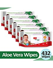 Luvlap Baby Wipes Aloevera With Lid 72's - Pack of 6