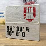 elbPLANKE - 53 Grad   9,5x9,5 cm   Holzbilder von Fotoart-Hamburg   100% Handmade aus Holz (Palette/Kiefer/Fichte/Birke)