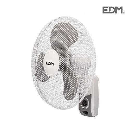 Ventilador de pared 45W 40cm 3 velocidades con mando a distancia EDM 33916