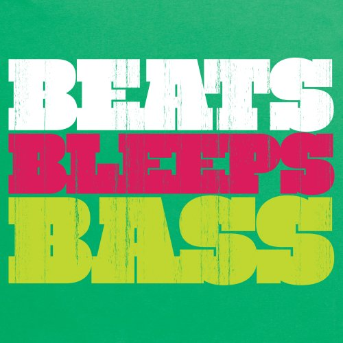 Beats, Bleeps And Bass Vintage T-Shirt, Herren Keltisch-Grn