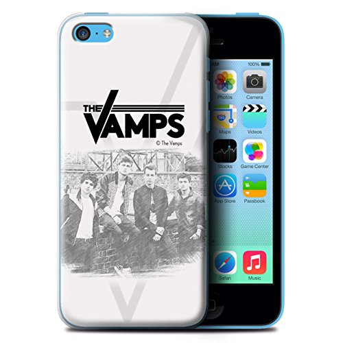 Offiziell The Vamps Hülle / Case für Apple iPhone 5C / Pack 6pcs Muster / The Vamps Fotoshoot Kollektion Skizzieren