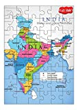 #8: Kidz Valle India Map 48 Pieces Tiling Puzzles (Jigsaw puzzles, Puzzles for Kids, Floor Puzzles), puzzles for kids age 4 years and above