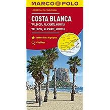 MARCO POLO Karte Costa Blanca, Valencia, Alicante, Castellón, Murcia 1:200 000: Wegenkaart 1:200 000 (MARCO POLO Karten 1:200.000)