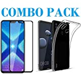AONIR 5D Tempered Glass & Back Cover_Combo Pack-Transparent_ Premium Quality Screen Guard And Soft Case Cover For Huawei Honor 8X