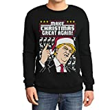 Hässlicher Weihnachtspullover Trump Make Christmas Great Again Herren Sweatshirt XX-Large Schwarz