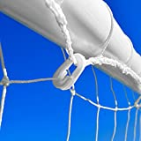 "Football Goal Net Clips - ""Quick Clips"" (QTY = 14 -> 80) (White) [Net World Sports]"
