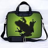 Sidorenko® Notebooktasche Laptoptasche für 17-17,3' Zoll ( 43,9 cm) mit zwei Innentaschen für Zubehör / Vorder - Rückseite bedruckt