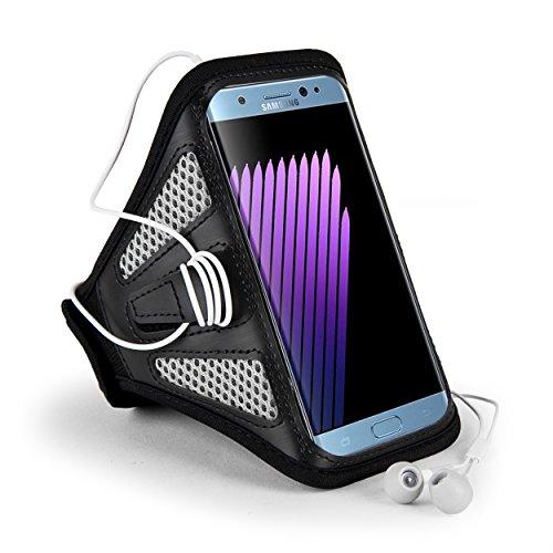 jlyifan Premium Mesh Running Gym Sport Armband Fall für iPhone 7Plus/Samsung Galaxy J7/Motorola Moto/G 4/Moto Z Force/LG Stylo 2/Blu R1/Alcatel Pop 4S 4+, Gray/Black