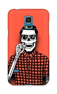 Amez designer printed 3d premium high quality back case cover for Samsung Galaxy S5 Mini (Hipster Skull)