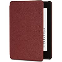 Amazon Kindle Paperwhite Leather Cover (10th Generation - 2018 Release), Merlot