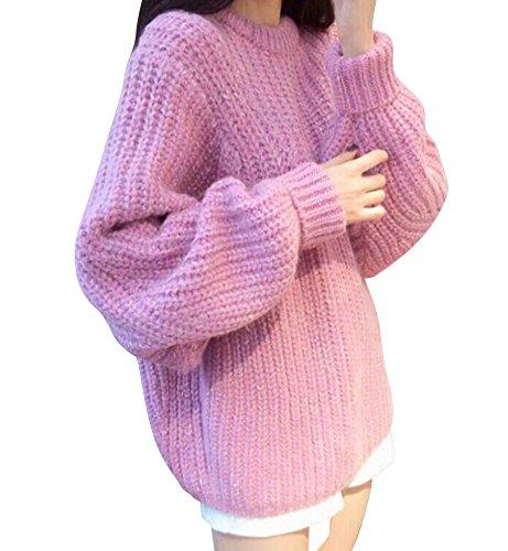 Molly Femmes Doux Bonbons Couleur Taille Plus Chandail Pull pink