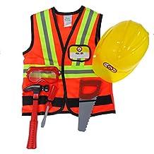 Disfraz de Obrero de la construcción Niño Tamaño M