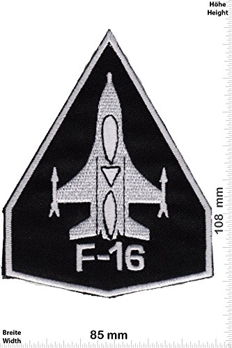 Patch - F-16 black - Military - U.S. Army - Air Force -Tactical - Arme - Bundeswehr - Militär - Patches - Aufnäher Embleme Bügelbild Aufbügler (Air Emblem Force,)
