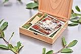 Holz Box (ohne USB), Print & USB Flash Drive Box Personalisieren Flash Drive Box Geschenk, Hochzeit Box Proof Box für Fotografie, Foto Box With Moss Light