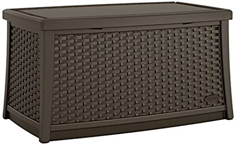 Suncast BMDB3000 ® Garden Wicker Storage Coffee Table Furniture Suitable