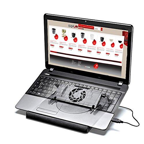 Notebook Kühler, Laptop Ständer 360 Grad Drehbar, Höhen -