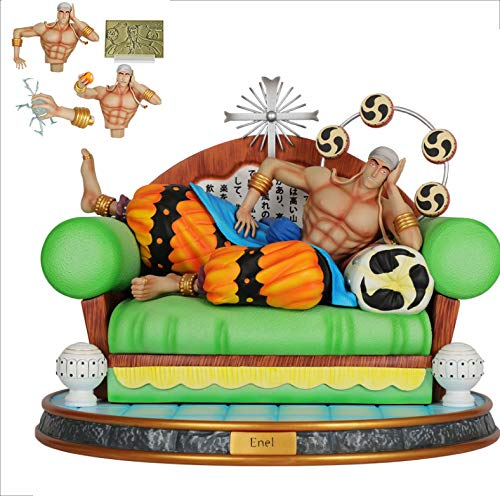 LIGHT LJ Enel Action Figure Figuarts One Piece Charakter Figma Für Kinder Und Anime-Liebhaber Oder Benutzt Für Hauptdekoration 35 * 35 * 28cm (Harz)