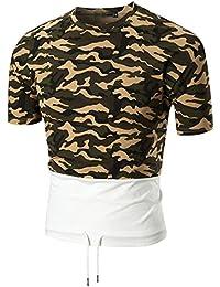 Mens T Shirts,Mens Shirts Short Sleeve,Mens Shirts Casual,Mens Tops,Men Shirt New Look,Moonuy Men Casual Slim Camouflage Short Sleeve Fashion Handsome Personality T Shirt Top Blouse