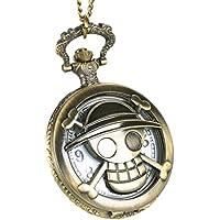 CoolChange Reloj de Bolsillo de One Piece con Jolly Rogers del Equipo de  los Sombreros de 1ca4e5aba35