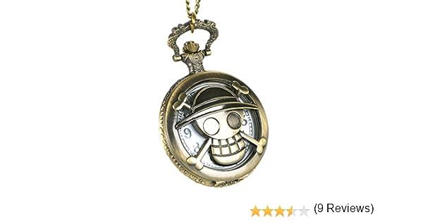 CoolChange Collana di One Piece con Jolly Roger dellequipaggio del Cappello di Paglia e Un/'Ancora