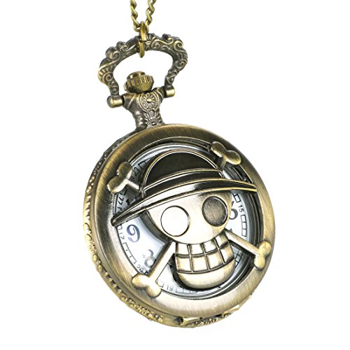 CoolChange Reloj de Bolsillo de One Piece con Jolly Rogers del Equipo